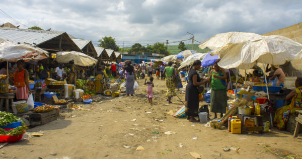 Market scene, Democratic Republic of Congo