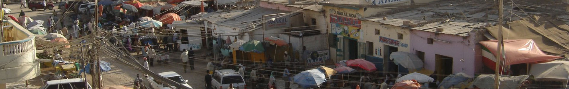 Scene of African market